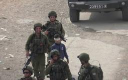 Israel arresting a Palestinian - archive