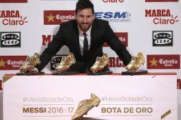 ميسي يفوز بجائزة الحذاء الذهبي للمرة الرابعة في تاريخه