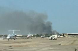 اندلاع حريق ضخم قرب مطار برشلونة