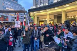 وقفتان ببروكسل ونيويورك تضامنًا مع غزة وتنديدًا بالعدوان
