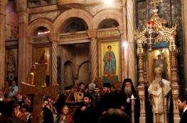يهودي يثير ذعر المحتفلين بعيد الميلاد في كنيسة القيامة