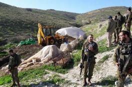 الاحتلال يسيطر على أراض جنوب شرق طولكرم
