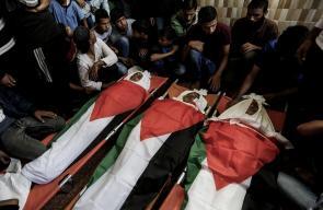 تشييع حاشد للشهداء الأطفال شرق دير البلح