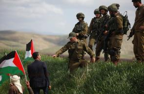 قوات الاحتلال تقمع فعالية زراعة أشجار في سهل البقيعة