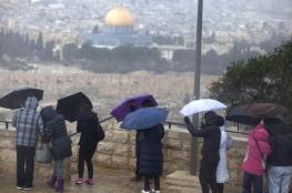 طقس فلسطين .. أجواء باردة وأمطار رعدية غزيرة