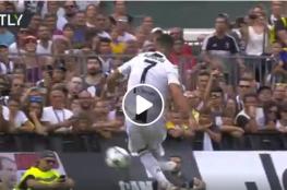 شاهد أول أهداف رونالدو بقميص يوفنتوس