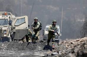 قوات الاحتلال تقمع مسيرة كفر قدوم شرق قلقيلية الأسبوعية