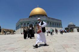 دخل متخفياً.. وفد بحريني يقتحم المسجد الأقصى من دون الكشف عن هويته خشية الطرد
