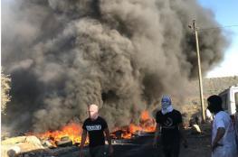 """مسيرة استفزازية للمستوطنين من حاجز زعترة باتجاه """"جبل صبيح"""" في بيتا"""