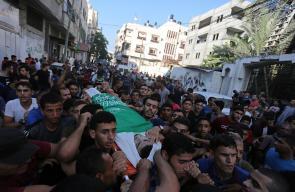 تشييع جثمان الشهيد ساري داهود الشوبكي