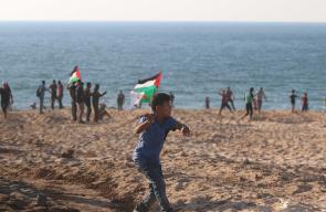 المسير البحري التاسع شمال غزة
