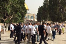 عشرات المستوطنين يقتحمون المسجد الأقصى بحماية أمنية مشددة