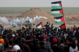 إصابات اثر اعتداء قوات الاحتلال على مسيرة العودة شرقي قطاع غزة