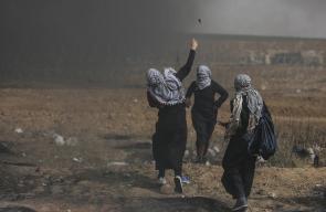 مشاركة النساء الفلسطينيات في المظاهرات الجماهيرية