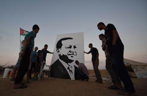 فنان يحتفل بطريقته الخاصة بفوز الرئيس التركي رجب طيب أردوغان بالانتخابات الرئاسية