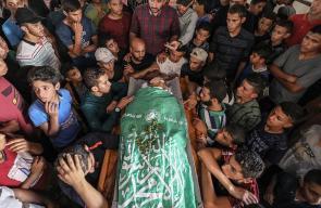 تشيع جثمان الشهيد الفتى مؤمن أبو عيادة برفح