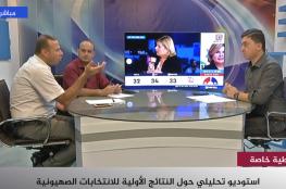 استوديو تحليلي للنتائج الأولية لانتخابات الكنيست الإسرائيلي