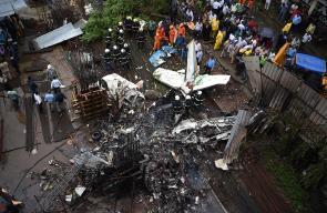 مصرع 5 أشخاص إثر تحطم طائرة ركاب صغيرة في مدينة مومباي الهندية