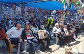 مشاهد من خيمة التضامن مع الاسرى في ميدان الشهيد ياسر عرفات برام الله