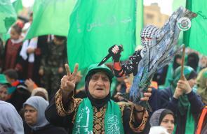 المرأة الفلسطينية حاضرة بقوة في مهرجان انطلاقة حركة حماس