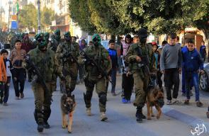 مسير عسكري لنخبة كتـائب القسام وسط قطاع غزة