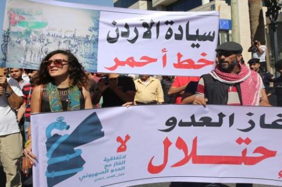 """النواب الأردني يوافق على مشروع قانون يمنع الحكومة من استيراد الغاز من """"إسرائيل"""""""