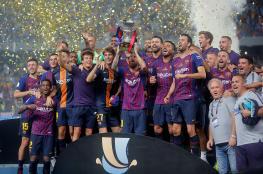 برشلونة بطلًا للسوبر الإسباني للمرة الـ13 في تاريخه