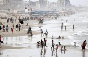 بحر غزة في ظل الأجواء الحارة