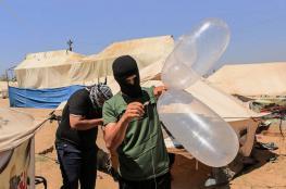 طائرة استطلاع تستهدف مطلقي البالونات الحارقة شرق غزة