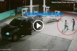 كاميرات المراقبة ترصد جريمة قتل بشعة داخل محطة بنزين أميركية