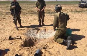 مكان سقوط الصاروخين اللذين أطلقا من سيناء في منطقة فتوحة جنوب فلسطين المحتلة