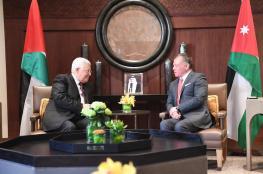 عباس التقي ملك الأردن بعد زيارة مصر.. وهذا ما دار بينهما