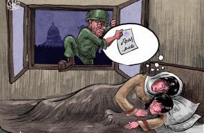 كاريكاتير سباعنة  اخطارات الهدم التي توزعها قوات الاحتلال