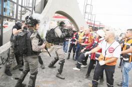 الاحتلال يعتدي على طواقم الاسعاف على مفترق عين سينيا برام الله
