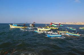 مسيرة بحرية من ميناء غزة للمطالبة بكسر الحصار