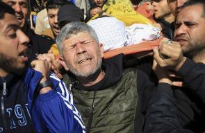 تشييع حاشد لجثمان الطفل يوسف الداية في غزة