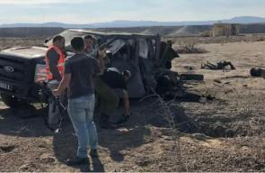اصابة 7 جنود اسرائيليين بانفجار لغم ارضي قرب أريحا