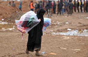 معاناة النازحين من #الموصل تتفاقم مع تساقط الأمطار على مخيماتهم