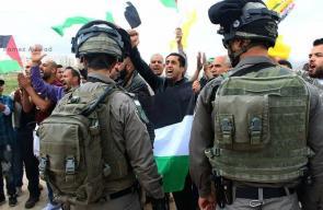 مواجهات عقب قمع الاحتلال مسيرة تضامنية مع الأسرى عند حاجز