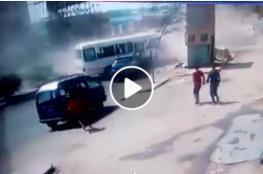 شاهد حادث مروع في منطقة طرة بالمعادي
