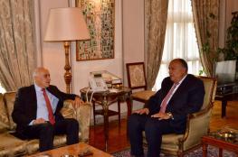 الرجوب يلتقي وزير الخارجية المصري.. وهذا ما دار بينهما