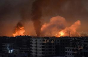هكذا يبدو المشهد في مخيم اليرموك