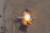 فيديو مثير لقصف مدرعة من طائرة مسيّرة لتنظيم الدولة