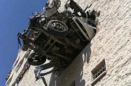 وفاة مواطنين إثر حادث سير ذاتي في نابلس