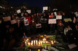 وقفة احتجاجية أمام سفارة إسرائيل بواشنطن تنديدًا باعتداءات على غزة