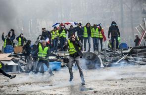 مظاهرات في باريس احتجاجا على ارتفاع تكاليف الوقود