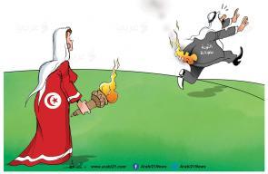 #تونس_تنتخب_رئيسًا - كاريكاتير علاء اللقطة