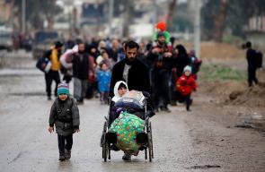32 ألف نازح من الموصل خلال الأسبوع الماضي فقط