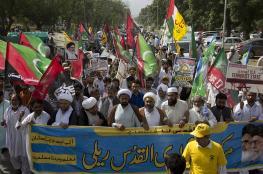 """آلاف الباكستانيون يحيون """"يوم القدس"""" العالمي بمظاهرات حاشدة"""