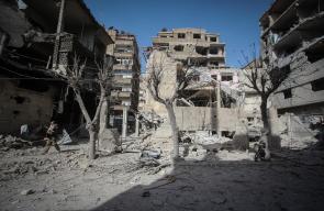 قصف عنيف أحدث دماراً واسعاً بالغوطة الشرقية